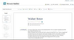 Linkedin Print Resume