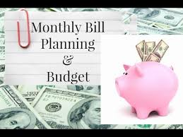 Monthly Bill Budget My Monthly Bill Planning And Budget 2017 Youtube