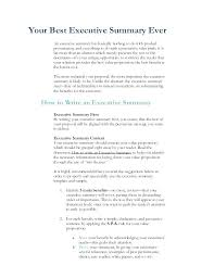 Writing Executive Summary Template Executive Summary Proposal Writing Pattern Template Examples For
