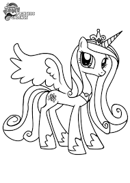 colorings co my little pony coloring pages princess cadence beauteous page