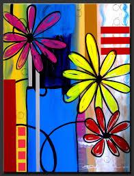 abstract painting fresh flowers by dora woodrum nicemodernart com