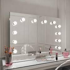 Large Light Mirror Scarlett Large Hollywood Mirror