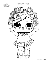 Babydoll From Lol Surprise Doll Coloring Pages Series 3 Free