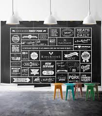 Kitchen Wall Mural Black White Butcher Theme Kitchen Mural Milton King
