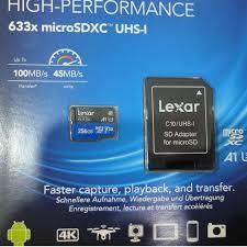 Mã ELMS4 giảm 7% đơn 500K] Thẻ nhớ MicroSD Lexar 256GB class 10 U3 633x  chính hãng 770,000đ