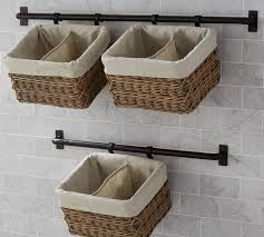 breathtaking hanging wall basket interior design ideas build your own hannah system pottery barn baskets organizer