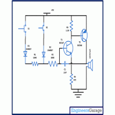 transistor based security alarm circuit diagram transistor based security alarm circuit