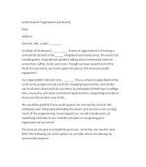Proposal Letter For Sponsorship Sample For Event Example Sponsorship Letter For Charity Event Moontex Co