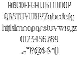 無料素材 細いラインでデザインされたレトロでオシャレな英語フリー