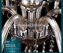 modern 6 8 heads bedroom cognac crystal chandeliers lights pendant lamps ceiling fixtures lighting