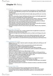 Musc Doctors Note Musc 2140 Textbook Notes Winter 2014 Chapter 11 Bebop