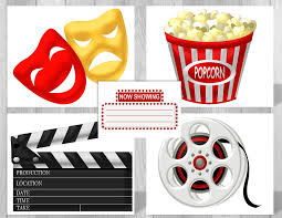Hollywood Theme Decorations Printable Hollywood Movie Party Supplies Movie Theme Party