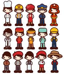 20 612 builder worker cliparts stock vector and royalty builder worker character cartoon in various job vector file eps10 illustration