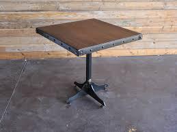 vintage industrial furniture tables design. Bistro Table No Rivets 2 Vintage Industrial Furniture Tables Design U