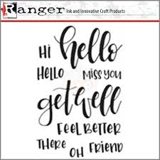 Letter Greetings Best Ranger Letter It Clear Stamp Set Greetings MarkerPOP