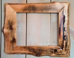 Homemade Rustic Picture Frames Rustic Wood Frame