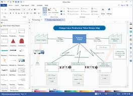 Easy But Powerful Value Stream Map Software Visio Alternative