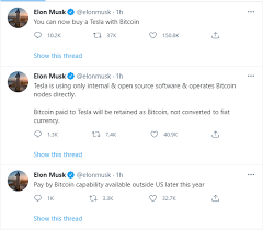 How to buy bitcoin with credit cards ? Bitcoin Btc Usd Latest Buy Your Tesla With Bitcoin Tweets Elon Musk