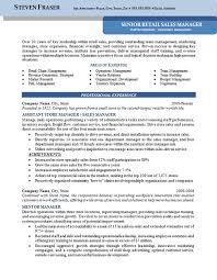 Sample Resume For Retail Manager Inspiration Store Manager Resume Example