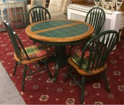 tile top dining table. Stunning Extendable Green Tile Top Dining Table And Chairs