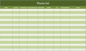 Phone Extension List Template Excel Internal Phone Directory Template