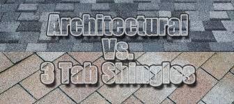 architectural shingles vs 3 tab. Comparison Of 3 Tab Shingles And Dimensional Shingles. Asphalt Architectural Vs