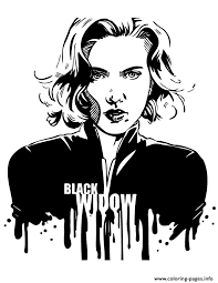 Small Picture avengers black widow for teen girls Coloring pages Printable