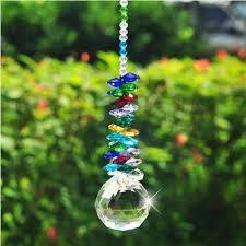 40mm lighting ball accessories chandelier parts pretty home decoration crystal suncatcher pendants prisms glass beads