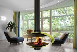 traforart almeja suspended fireplace