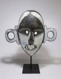 Mask Display Stand A Rare Djimini Keplie mask on display stand African mask African 52