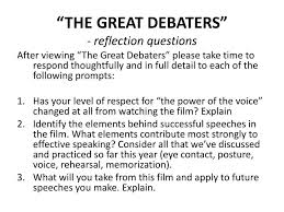 "the great debaters worksheet switchconf ppt ""the great debaters"" reflection questions powerpoint"