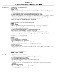 Sales Wholesale Resume Samples | Velvet Jobs