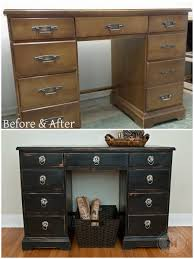 Painting Bedroom Furniture Before And After Before And After Desk Distressed Using 100 Beeswax Easy Tutorial