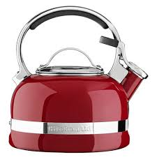kitchenaid empire red stove top kettle 1 9 litre