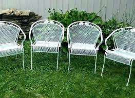 wrought iron outdoor furniture for iron patio 4 vintage wrought iron metal barrel back patio