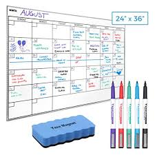Charting Supplies Dry Erase Whiteboard Wall Calendar 5 Magnetic Markers