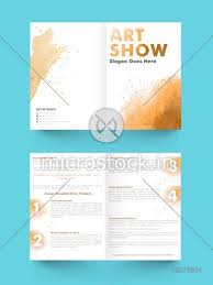 Two Page Brochure Template Creative Abstract Two Page Brochure Template Or Flyer Design For