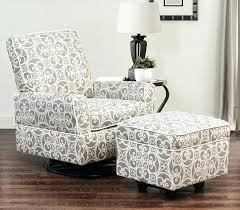 glider chair with ottoman living swivel glider chair and ottoman set fl grey stork craft hoop