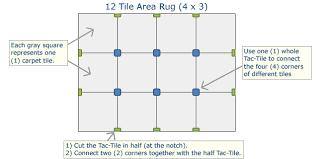 tac tiles installation diagram for 4 x 3 12 carpet tile area rug