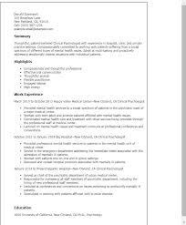 Licensed Psychologist Sample Resume Beauteous Cv Clinical Psychologist Psychology Resume Template Curriculum Vitae
