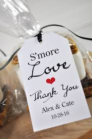 thank you tags for wedding favors wedding favors smore love favor tags bridal shower favor tags