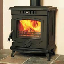 details about hamco glendine stove multi fuel cast iron wood burning fire glass door new