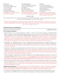 Accounting Resume Sample Cv For Accountants Template Singapore