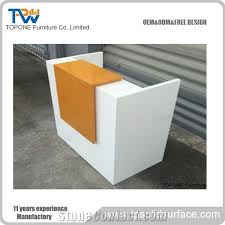 small office reception desk. Small White And Orange Artificial Marble Office Reception Table Tops, Acrylic Solid Surface Front Tops Design Furniture Oem Service Desk