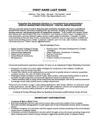 Example Of Marketing Resumes Digital Marketing Specialist Resume Template Premium