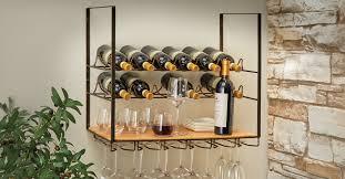 12 bottle wall mounted wine rack and