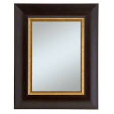 mirror 20 x 36. manford group x dark walnut w/gold lip frame mirror, alpine art and mirrors mirror 20 36