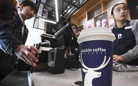 Shares of the chinese coffee chain continued to climb as day traders see an opportunity. Luckin Coffee China S Starbucks Wannabe Sees Nasdaq Stock Plunge As Executive Is Suspended For Making Up Sales Figures South China Morning Post
