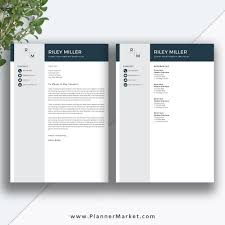 Modern Resume Cover Letters Professional Resume Template Cv Template Creative Resume Modern