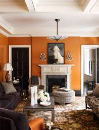 Burnt Orange And Brown Living Room Concept New Decorating Ideas